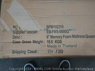 6 inch memory foam mattress Queen