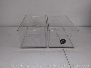 clear freezer bins 8 x 6 deep bin