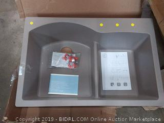 Schock EDON175T082 Cristadur Granite Sink, Earth