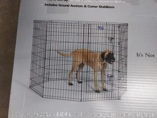 enclosed e-coat exercise pen for large dogs