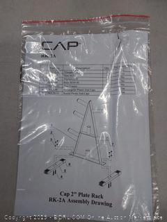 cap 2 inch plate rack