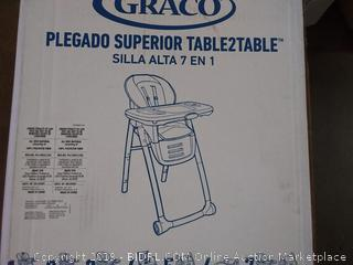 Graco table 2 table Premier fold 7 in 1 highchair