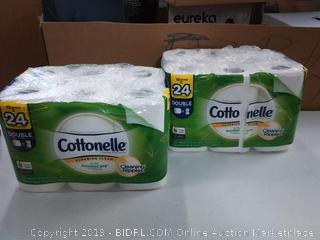 2; 12 packs of cottonelle