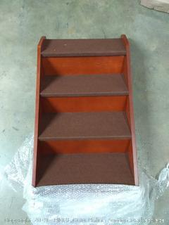 891293000699 - Solvit PupStep Wood Pet Stairs - Walnut (LARGE