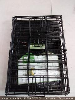 icrate folding double door dog crate
