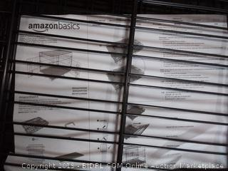 amazonbasics double door folding metal dog crate