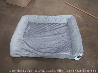 furhaven large gray pet bed