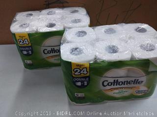 Cottonelle Ultra GentleCare Toilet Paper, Aloe & Vitamin E, 12 Double Rolls