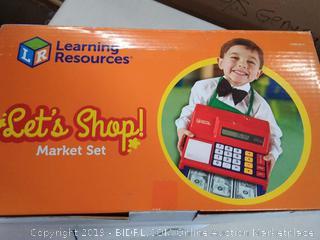 learning resources let's shop Market set for children