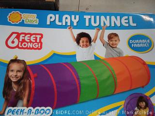 Sunny Days Entertainment 6-Foot Assembly-Free Adventure Play Tunnel for Kids Indoor & Outdoor Pop-Up Crawl Toy