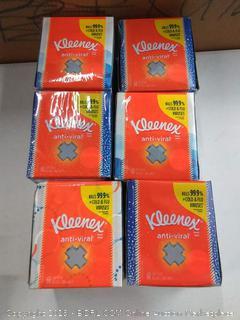 Kleenex Anti-Viral 3-Ply Facial Tissues White 60 Sheets Per Box 6 boxes