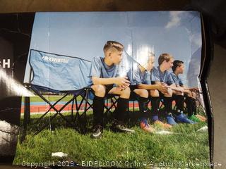 Kwik Goal 6 Seat Kwik Bench Soccer Bench, New 617305012548