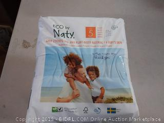 Eco by naty bio and plant-based material diapers size 5 22per pack. 3 pack