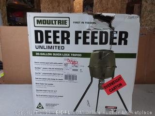 Moultrie Unlimited Tripod Deer Feeder, 30-Gallon(Factory Sealed/Box Damage) COME PREVIEW!!!! (online $174)
