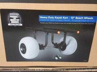Wilderness Systems Heavy Duty Kayak Cart 13'' Beach Wheels (online $199)