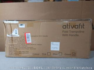 Fold trampoline with handle(Factory Sealed/Box Damage) COME PREVIEW!!!! (online $69)