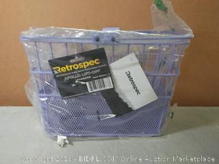 retrospec rectangular steel mesh removal basket(slightly crooked)