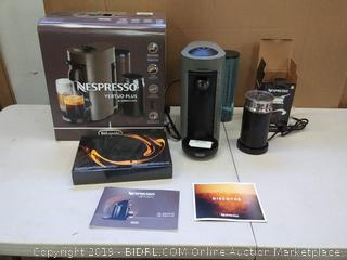 De'Longhi ENV150GYAE VertuoPlus Bundle Espresso Machine, Graphite Metal