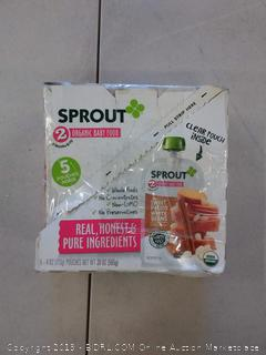 Sprout Organic Stage 2 Baby Food Pouches, Sweet Potato White Bean w/ Cinnamon, 4 Ounce 5 Pouches