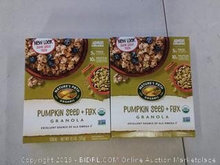 Natures Path Organic Pumpkin Seed and Flax Granola 2 Boxes
