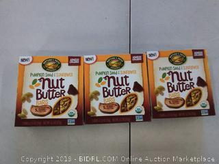 3 pack Nature's Path Bar, Organic, Nut Butter, Pumpkin Sunflower
