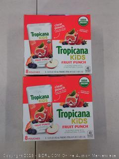 2 PACK Tropicana Kids Organic Juice Drink Pouch, Fruit