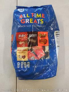 HERSHEY'S All Time Greats Chocolate Candy Assortment (HERSHEY'S, REESES, KIT KAT, WHOPPERS), Snack Size, 38.9 oz., 105 Pieces