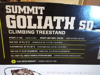 New Summit Goliath SD Climbing Treestand w/ Stirrups & Harness