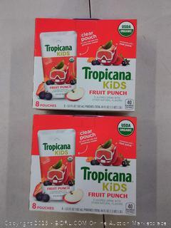 Tropicana Kids Organic Juice Drink Pouch, Fruit 2 PACK