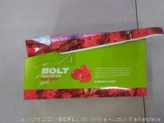 Bolt Organic Energy Chews Strawberry flavor 12 energy packs