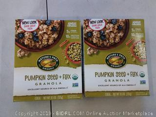 2 PACK Nature's Path Organic Flax Plus Pumpkin Granola 11.50 oz