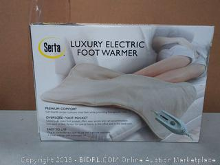 Serta Luxury Electric Foot Warmer (online $39)