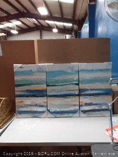abstract Seascape picture wall art on canvas