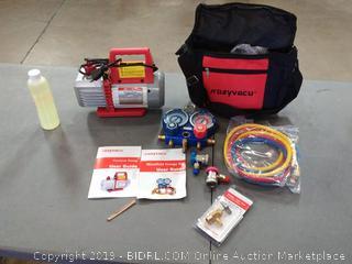 Kozyvacu AUTO AC Repair Complete Tool Kit (Vacuum Pump +