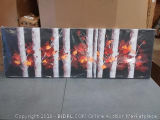 begin home decorator Birch landscape wrapped canvas 20 by 60 black and red