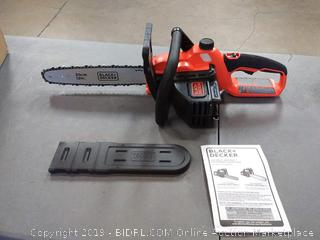 BLACK+DECKER LCS1240B 12-Inch Lithium Ion Chainsaw, 40-volt( does not include battery)