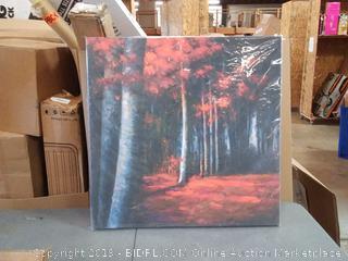 BEGIN DECO MAISON - HOME DECOR Mysterious Forest Wrapped Canvas, 36x36, Multicolor