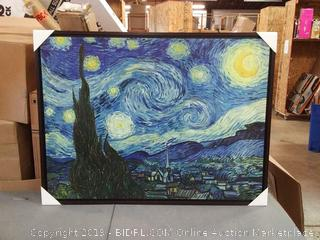The Starry Night painting by Van Gogh canvas 39x48 wrapped and wood frame