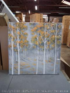 BEGIN DECO MAISON - HOME DECOR Birch Forest Wrapped Canvas, 36x36, Multicolor