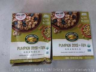 pumpkin seed Nature's Path granola pack of 2( only box damage on 1 box)