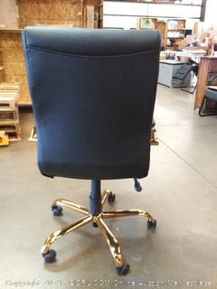 black and gold office chair
