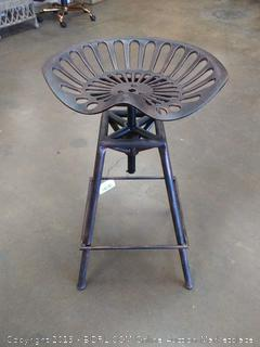 Christopher Knight Home Industrial Metal Design Tractor Seat Bar Stool, Brown (Online $89.00) LOBBY