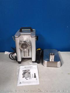 electric aluminum meat grinder (online $149)