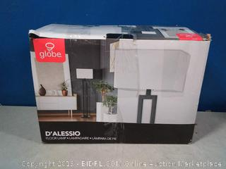 "Globe Electric 67046 D'Alessio 58"" Floor Lamp Matte Black White"