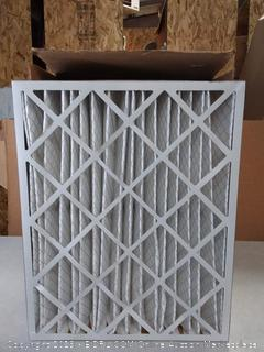 "Aerostar 20x25x4 MERV 11 Pleated Air Filter, Made in the USA 19 1/2"" x 24 1/2"" x 3 3/4"", 6-Pack (online $72)"