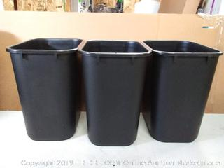 storex wastebasket medium black 3pck