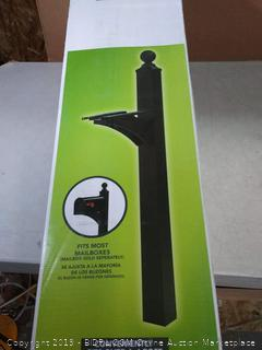 Gibraltar Mailboxes Landover Aluminum Black, Mailbox Post, (Factory Sealed/Box Damage) COME PREVIEW!!!!!