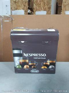 Nespresso VertuoPlus Coffee and Espresso Maker by De'Longhi, Grey (online $153) New