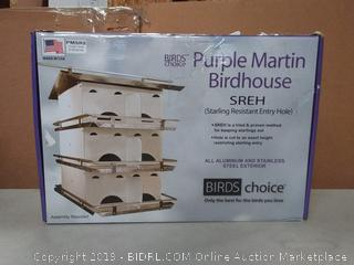 Birds Choice Purple Martin Birdhouse 2 Floor 8 Room with Crescent Hole Roof is slightly bent  (online $73)