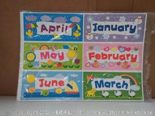 Complete Calendar Kit Bulletin Board Set
